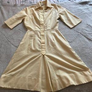 BendingerBros KneeLength Yellow 50s ShirtDress (S)